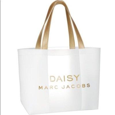 美到不忍心用 矽膠防水款 正貨 MARC JACOBS 透明大容量 側背包 托特包 沙灘包 購物袋 媽媽包(MBT34)