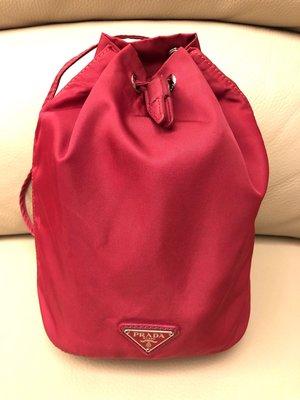 PRADA 桃紅色 水桶索繩 手挽袋 上膊袋 bag pouch