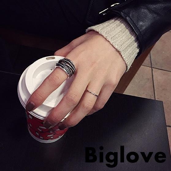 巴洛克款套裝簡約日韓國潮人學生夸張開口小食指環戒指女時尚個性