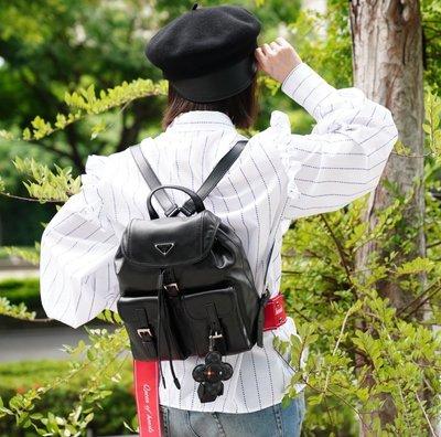 Prada 1BZ677 Backpack 小牛皮後背包 黑 現貨