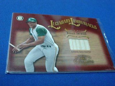 阿克漫426-95~MLB-2003年Donruss Classics 限量500張球棒特卡Reggie Jackson只有一張