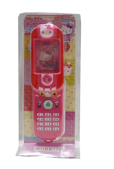 佳佳玩具 ----- 三麗鷗 正版授權 Hello kitty 凱蒂貓 旋轉手機 音效 仿真手機【05A493】