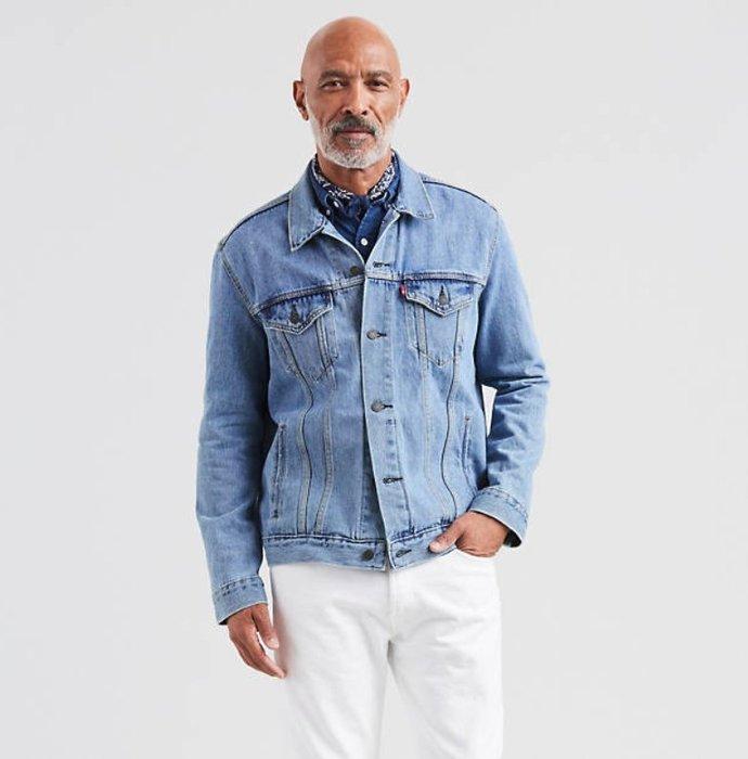 《FOS》美國 Levis 水洗 牛仔 外套 工作 夾克 軍風 復古 時尚 上班 約會 逛街 出國 2019新款 限定