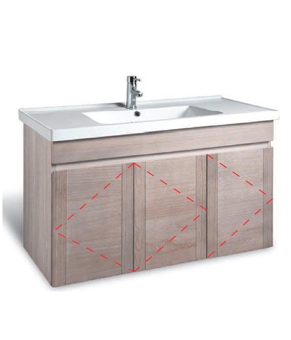 CORINS 象牙梧桐 Fl-100 防水發泡板檯面盆浴櫃