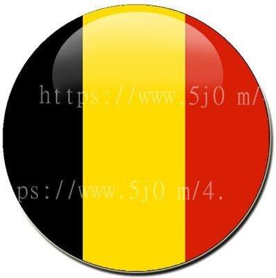 〈世界國旗〉比利時 國旗胸章 (直徑3.2公分)