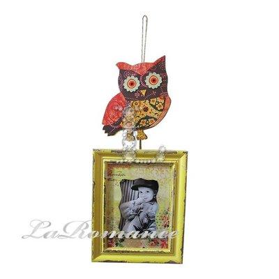 【芮洛蔓 La Romance】貓頭鷹吊飾相框 - A / 動物相框 / 可愛造型相框