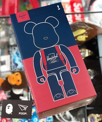 [FDOF] HERSCHEL SUPPLY CO. X MEDICOM TOYS BE@RBRICK 400% 公仔
