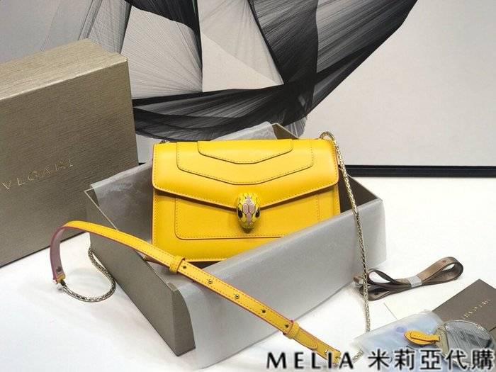 Melia 米莉亞代購 商城特價 數量有限0809 BVLGARI 寶格麗 單肩包 馬卡龍春夏限定色系 黃色