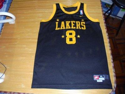Nike KOBE BRYANT 洛杉磯湖人 四星黑 Swingman Jersey SIZE:YXL