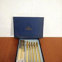 vintage 歐米茄 OMEGA 自動筆 原子筆 鋼珠筆 鋼筆 尺 拆信刀 禮盒 六件組