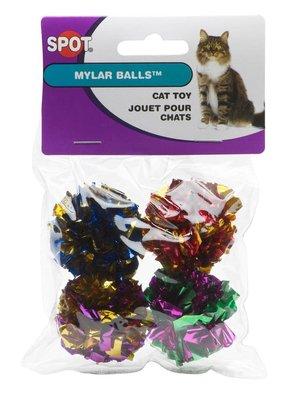 美國Ethical  貓彩球-4入 塑膠聲 國外熱賣 貓咪最愛 68002131