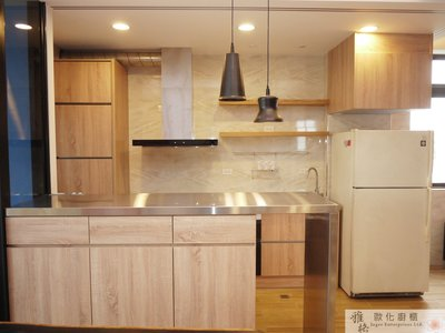 【雅格廚櫃】工廠直營~一字型廚櫃、流理台、廚具、結晶鋼烤、櫻花三機、不銹鋼檯面、7790SXL渦輪變頻3D環吸除油煙機