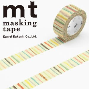 《散步生活雜貨-和紙膠帶》 日本 mt for kids 條紋 mini紙膠帶 15mm單捲-MT01KID019