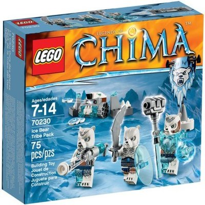 全新現貨 70230 LEGO Legends of Chima LegoIce Bear Tribe Pack
