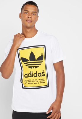 【Dr.Shoes】Adidas Filled Label Tee 男裝 白 棉質 短袖T恤 ED6937