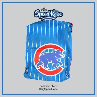 ☆SP☆ 創信 MLB 束口袋 背袋 後背包 鞋袋 輕便 小熊 水藍條紋 復古 5661401-003