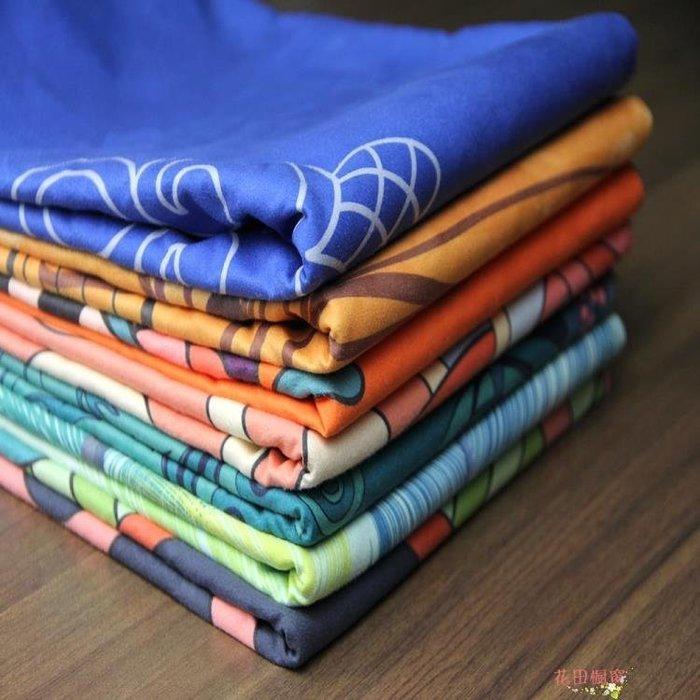 印花瑜伽墊鋪巾 健身瑜伽毯子加厚防滑吸汗瑜伽鋪巾