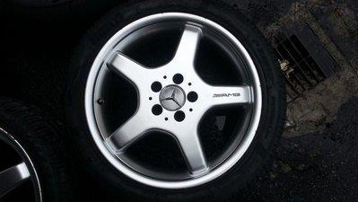 benz amg18吋鋁圈含胎出售 有前後配 w210 w211 w203可裝