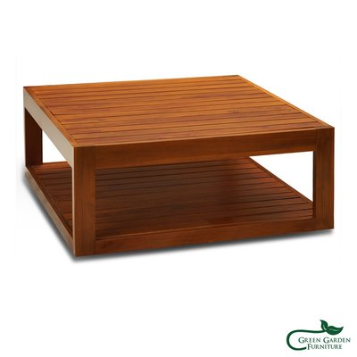 墨西哥 方形柚木咖啡桌 (上下條/經典)【大綠地家具】100%印尼柚木實木/經典柚木/實木茶几/咖啡桌/絕版出清