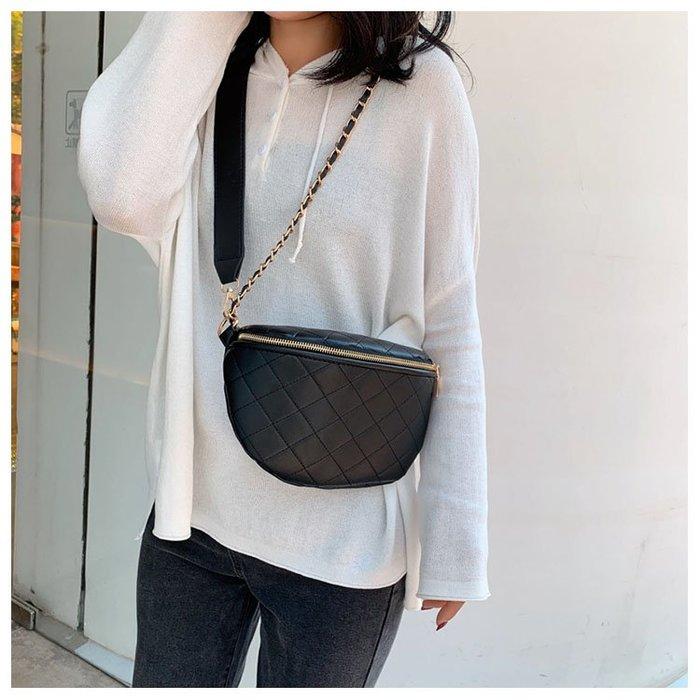 FINDSENSE X 韓國 女士 時尚菱格 小包包 貝殼包 水餃包 斜挎包 百搭 單肩包