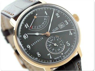 ZEPPELIN 齊柏林飛船 手錶 機械錶 LZ129 40mm 德國 飛行錶 航空錶 7064-2