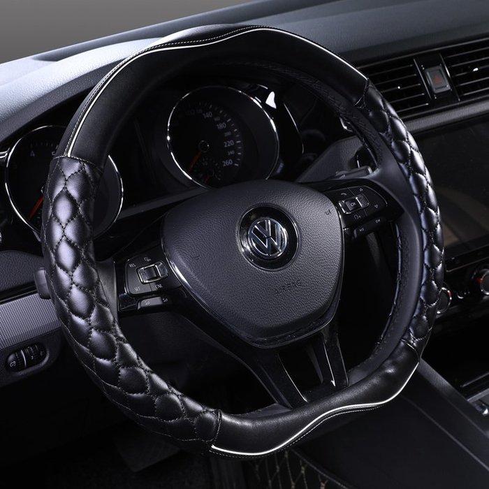 汽車方向盤套夏季四季通用防滑吸汗皮把套女CRV免手縫XRV【每個規格價格不同】