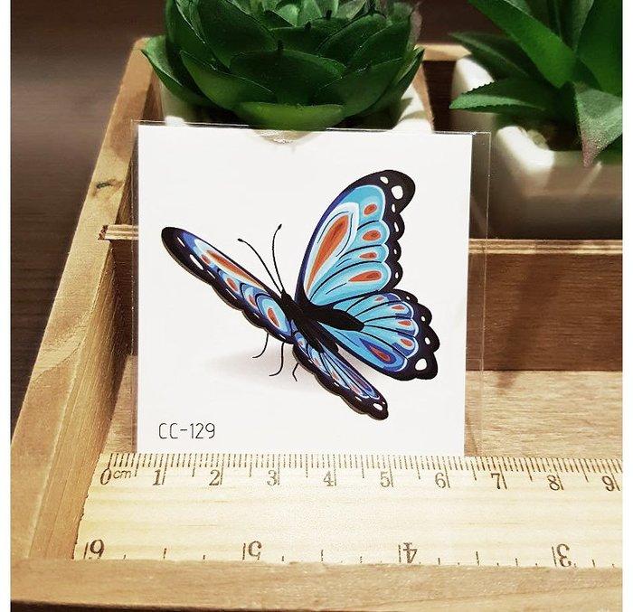 【萌古屋】花朵單圖CC-129 - 防水紋身貼紙刺青貼紙K37