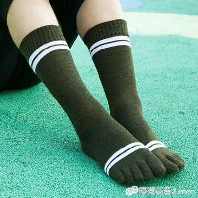 【店長推薦】 秋冬新品五指襪子男士純棉高筒加厚保暖吸汗分腳趾禮盒5雙裝