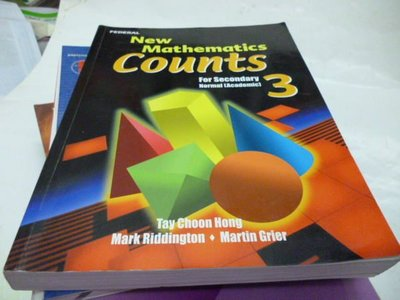 買滿500免運-【New Mathematics counts For Secondary (Academic 3 )】