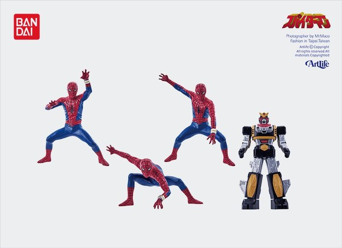 ArtLife @ BANDAI MARVEL SPIDERMAN ガシャポン HG 東映TVシリーズ 蜘蛛人 日版