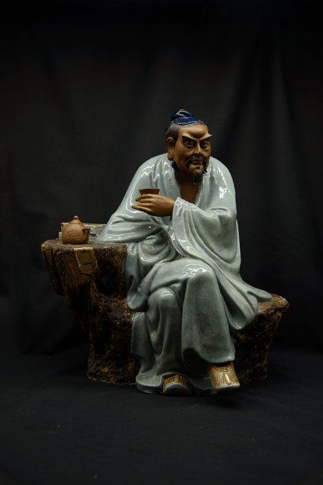 【聽竹軒】交趾陶 茶聖 陸羽 飲茶