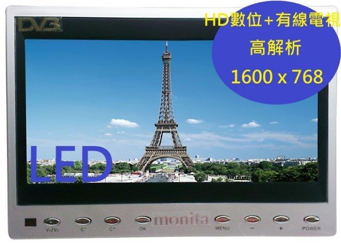 Monita 8 吋螢幕 16:9 HD數位+有線電視+USB多媒體(MT-HD8058)免運