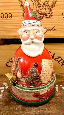 聖誕老公公造型音樂鈴:聖誕老公公 音樂鈴 歐式 復古 懷舊 手工 收藏 禮品 家飾 聖誕節