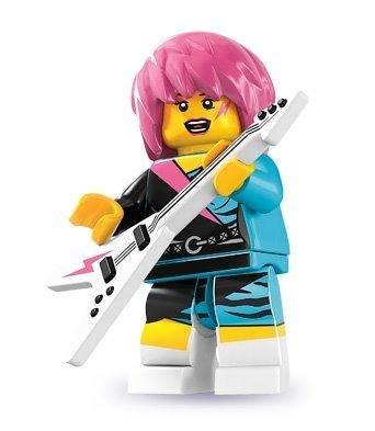 絕版品【LEGO 樂高】玩具 積木/ Minifigures人偶包系列: 7代 8831   搖滾女孩+電吉他