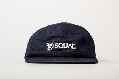 SQUAD 2017 S/S BOX LOGO 5 PANEL CAP 貼布五片帽 深藍色