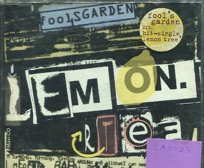 *愛樂唱片*FOOL'S GARDEN / LEMON TREE 二手 LA0043 (需競標)