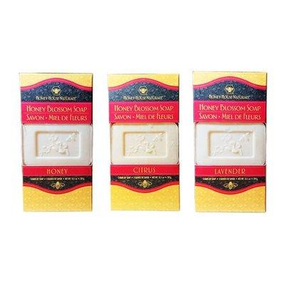 美國原裝進口 漢妮小蜜蜂 蜂蜜花香香皂(三塊裝)  5217SHOPPING A80301801005