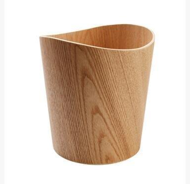 【優上】水曲柳曲邊桶木製垃圾桶廢紙簍日系木質垃圾筒