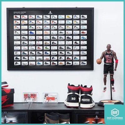 DOT 聚點 台灣自創 Sneaker Mob POSTER JORDAN 單刮刮卡 喬丹 球鞋 收藏 海報 1-14代