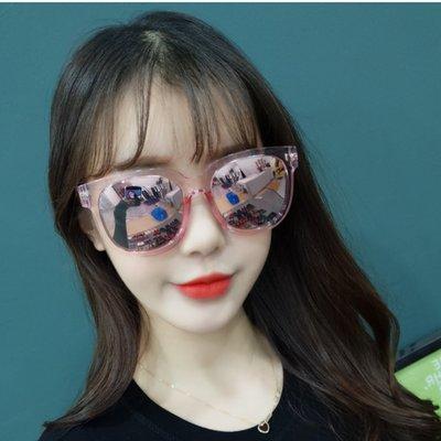 2018新款復古透明方形墨鏡女潮韓國大框圓臉太陽鏡男偏光開車眼鏡