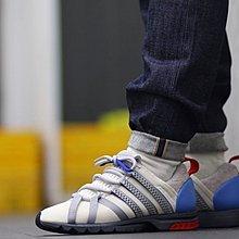 D-BOX  Adidas Consortium Adistar Comp AD 復古 綁帶 網面 慢跑鞋 米白灰藍