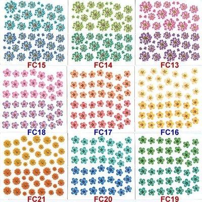 真的漂亮~日系仿真花貼紙※乾花彩繪貼紙-FC系列※~FC01~20下標區.
