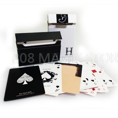 [808 MAGIC]魔術道具 Yu Ho Jin manipulation cards (柳豪鎮 黑白薄牌)