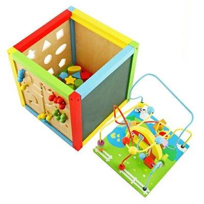 *小貝比的家*VIGA(優質原木教具)-5-IN-1 ACTIVITY TOY 五合一學習遊戲箱