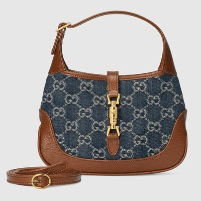 【代購】Gucci Jackie 1961 丹寧 mini hobo 肩背包 手提包 側背包 賈姬包