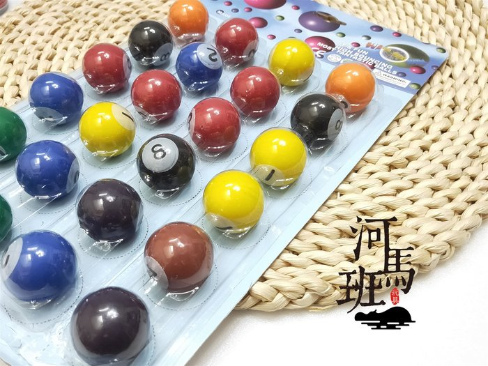 河馬班玩具-益智童玩-3公分彈力球(撞球造型)-24入特價112元