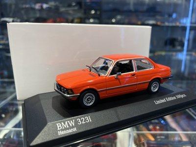 吉華科技@MINICHAMPS BMW 323i (E21) 1975 紅色 1/43