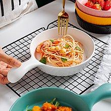 千禧禧居~北歐創意樹紋沙拉盤帶手柄家用個性日式陶瓷甜品碗水果盤烘焙盤子