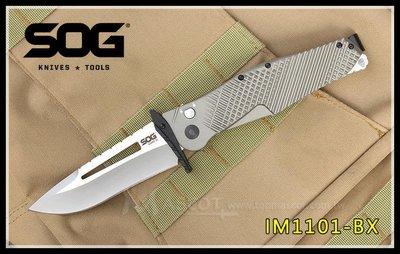 【原型軍品】全新 II SOG IM1101-BX QUAKE XL 雷神之槌 快開折刀 雙色 VG1 大