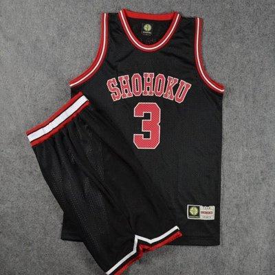 灌籃高手球衣隊服湘北3號赤木晴子籃球衣背心籃球服套裝黑色 LOVELIFEE